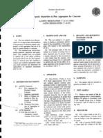 T 021-91 (1996) Organic Impurites in Fine Aggregates