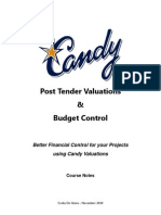 Candy Post Tender Valuations & Budget Control