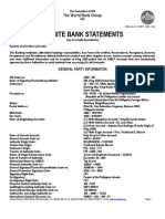 The World Bank Group USA, 2012 Final Audited Statements