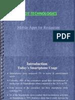 Mobile Apps for Restaurant