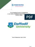Green Banking Practice in Bangladesh