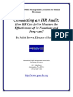 Audit of HR department