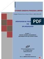 power plant control and Instrumentation specification