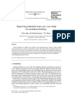 Improving water use in distillery case study