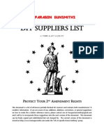 DIY Suppliers List