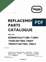 Triumph 650 Twins Parts Manual