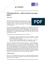 UK Energy Review – still in search of an energy policy