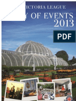 The Victoria League Diary of Events - 2013