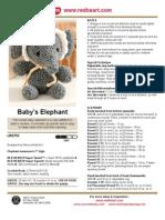 aMIGURUMI BABY ELEPHANT