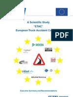 European Truck Accident Causation Study (ETAC) – Executive Summary
