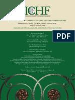 Preliminary programme - 2nd ICHF
