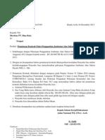 Surat Pemutusan Kontrak