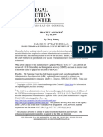 Failure to Appeal to the AAO - Does It Bar All Federal Court Review of the Immigration Case