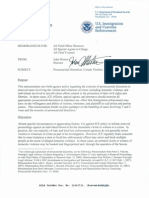 ICE Memo on Immigration Prosecutorial Discretion Regarding Certain Victims, Witnesses, And Plaintiffs