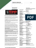 EFF ON TPP