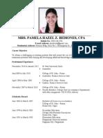 resume for application