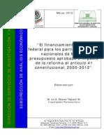 México financiamiento de los partidos políticos