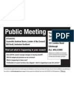 Public Meeting Flyer - City of Edinburgh Council