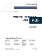 Personal products in asia pacific
