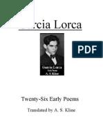 Early poems, Federico Garcia Lorca