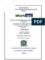 Project of Bharti-AXA Life Insurence Co.