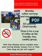 Stop Smoking support group Poster