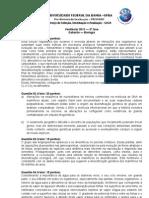 Gabarito Biologia UFBA