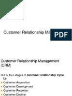 Customer relationship manage ment