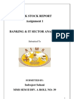 Mock stock report for banking and IT sector 2011