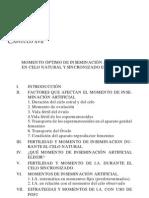 MOMENTO OPTIMO DE INSEMINACIÓN ARTIFICIAL EN BOVINOS