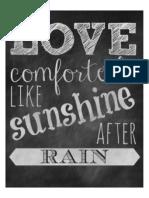 Love Comforteth