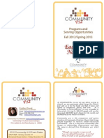 Community 4:12 Programs and Serving Opportunities in East Aurora, IL, Fall 2012 - Spring 2013