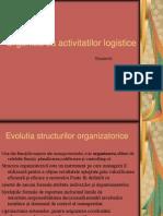 Organizarea activitatilor logistice
