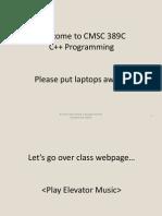 CMSC389C