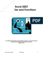 Excel 2007 Functions