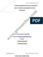 Effect of Home Background on the Academic Performance of Senior Secondary School Students