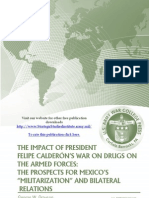 The Impact of President Felipe Calderón's War on Drugs on the Armed Forces