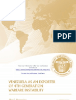 Venezuela as an Exporter of 4th Generation Warfare Instability