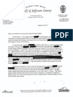Jefferson Sheriff Burns Report to Board of Legislators