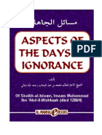 Aspects of the days of Ignorance; masail al jahiliyah