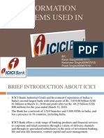 Information Systems   Information Systems Used in ICICI BANK