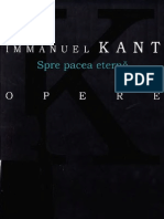 Immanuel Kant-Spre pacea eterna