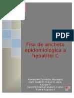 Fisa de ancheta epidemiologica Hep-C