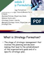 Module 2 - Strategy formulation