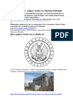 in U.S. Libraries - Papers, Books of a Fulbright Award Winner. Environmental sciences, ecology, environmental safety,  environmental toxicology of detergents and surface-active agents (surfactants), conservation