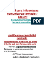 Factori care influenteaza comunicarea farmacist - pacient
