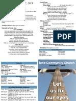 Ione Community Church Bulletin