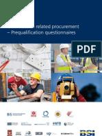 BSI PAS91 Construction Procurement Pre Qualification Questionaires
