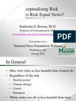 Conceptualizing Risk Or, Does Risk Equal News?