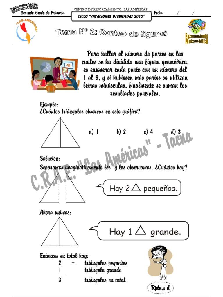 Tema Nº 2: Conteo de Figuras (Razonamiento Matemático / 2do Grado)